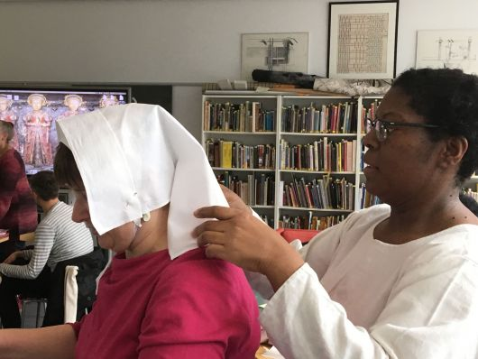 The Centre for Textile Research at the University of Copenhagen hosted a presentation about The Tudor Tailor's work and Harlie's Reenactors of Colour campaign