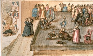 Mary Queen of Scots' execution as illustrated by an unknown artist in an album compiled by Willem Luytsz van Kittensteyn of Delft in 1613. The album was sold by the Atlas Van Stolk Museum, Rotterdam, inventory no 50442-525 (folio 289) to the Scottish National Portrait Gallery in 1934 (inventory no: PG 1217 – see: https://www.nationalgalleries.org/art-and-artists/3237/execution-mary-queen-scots-1542-1587?periods%5B17%5D=17&sort=date&page=2&search_set_offset=153)