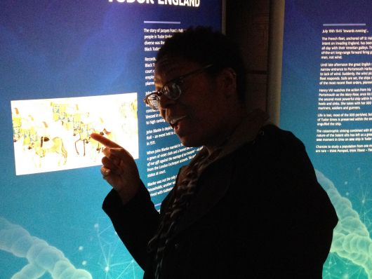Lots to ponder in the 'Diversity in Tudor England' exhibition at The Mary Rose Museum.
