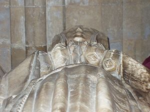 news/Elizabeth Matthew's effigy (1523) in Llandaff Cathedral, Cardiff, South Wales