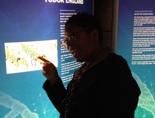 Lots to ponder in the Diversity in Tudor England exhibition at The Mary Rose Museum.